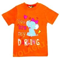 """1402-89 """"Слонёнок"""" футболка для девочек, 1-4 года"""
