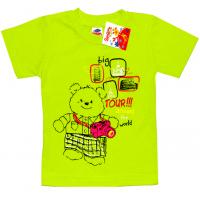 """2502-03 """"TOUR"""" футболка для девочек, 2-5 лет, салатовый"""