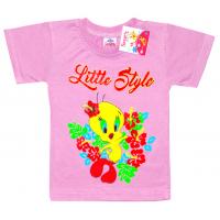 """2502-08 """"Цыпленок"""" футболка для девочек, 2-5 лет, сиреневый"""