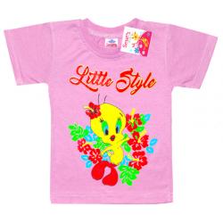"""2602-08 """"Цыпленок"""" футболка для девочек, 2-6 лет, сиреневый"""