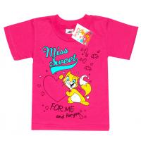 """2502-10 """"CAT футболка для девочек, 2-5 лет, малиновый"""