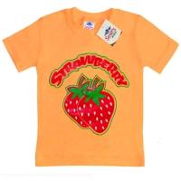 """5902-031 """"Клубничка"""" футболка для девочек 2-6 лет*"""