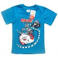 """2501-02 """"RACING"""" футболка для мальчиков 2-5 лет, бирюза"""