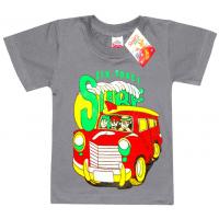 """2501-15 """"SURF"""" футболка для мальчиков 2-5 лет, серый"""