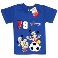 """2501-16 """"ФУТБОЛИСТЫ"""" футболка для мальчиков 2-5 лет, синий"""