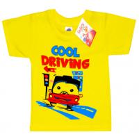 """2501-18 """"DRIVING"""" футболка для мальчиков 2-5 лет, желтый"""