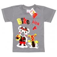 """2501-19 """"BIKER"""" футболка для мальчиков 2-5 лет, серый"""