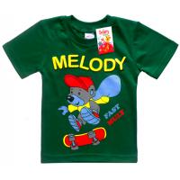 """2501-01 """"MELODY"""" футболка для мальчиков 2-5 лет, травяной"""