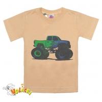 """2601-052 """"Monster Truck"""" футболка для мальчиков 2-6 лет, бежевый"""
