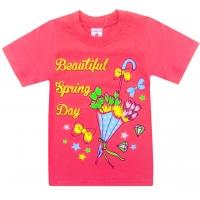 """4802-23 """"Весенний Денёк"""" футболка для девочек, 4-8 лет"""