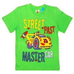 """4801-031 """"Street Past"""" Футболка для мальчиков, 4-8 лет, салатовый"""