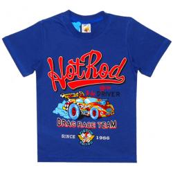 """4801-033 """"HotRod"""" Футболка для мальчиков, 4-8 лет, синий"""