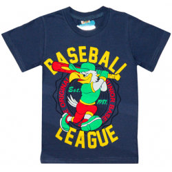 "4801-036 ""Baseboll League"" Футболка для мальчиков, 4-8 лет, темно-серый"