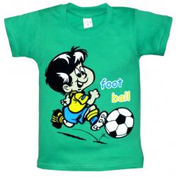 """10-58170 """"ФУТБОЛИСТ"""" футболка, 5-8 лет, изумрудный"""