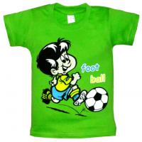 """10-58162 """"ФУТБОЛИСТ"""" футболка, 5-8 лет, салатовый"""