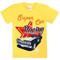 """10-58171 """"SUPER CAR"""" футболка, 5-8 лет, светло-желтый"""