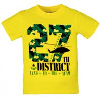 """5801-025 """"District"""" футболка для мальчиков 5-8 лет, желтый"""
