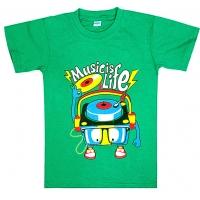 """5801-18 """"Music is Life"""" футболка для мальчиков 5-8 лет"""