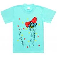"""5802-2 """"Кокетка"""" футболка для девочек 5-8 лет"""