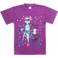 "5802-4 ""My Best Friend"" футболка для девочек 5-8 лет"