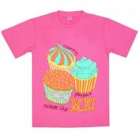 "5802-5 ""Sweet Like Me"" футболка для девочек 5-8 лет"