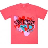 """5802-7 """"Princess"""" футболка для девочек 5-8 лет"""