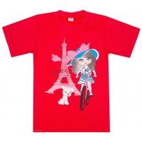 """5802-1 """"Парижские Прогулки"""" футболка для девочек 5-8 лет"""