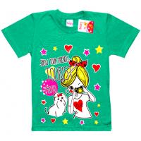 """5902-040 """"Tourist"""" футболка для девочек, 5-9 лет, изумрудный"""