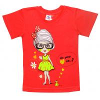 """5902-020 """" Miss"""" футболка для девочек, 5-9 лет, коралл"""