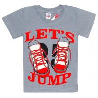 """5901-021 """"Lets Jump"""" футболка для мальчика, 5-9 лет, стальной"""