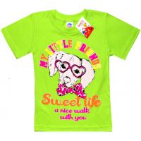 """5902-037 """"Sweet Life"""" футболка для девочек, 5-9 лет, салатовый"""