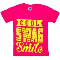 """5902-2 """"Улыбочка"""" футболка для девочек 5-9 лет"""