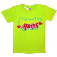 """5902-3 """"Летние Сладости"""" футболка для девочек 5-9 лет"""