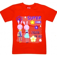 """5902-6 """"COOL"""" футболка для девочек 5-9 лет"""