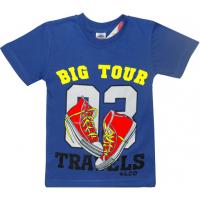 """5901-025 """"Big Tour"""" футболка для мальчика, 5-9 лет, синий"""