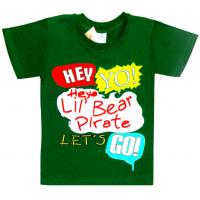 """5901-027 """"Hey Yo!"""" футболка для мальчика, 5-9 лет, изумрудный"""