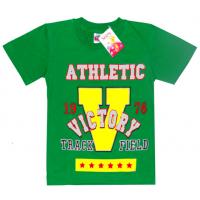 """5901-032 """"Victory"""" футболка для мальчика, 5-9 лет, зеленый"""
