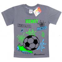 "5901-035 ""Henry"" футболка для мальчика, 5-9 лет, серый"