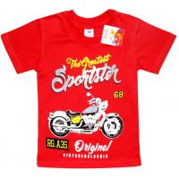 "5901-036 ""Sportster"" футболка для мальчика, 5-9 лет, клюква"