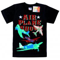 """5901-038 """"Airplane Show"""" футболка для мальчика, 5-9 лет, черный"""
