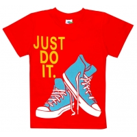 """5901-7 """"Just Do It"""" футболка для мальчиков 5-9 лет"""