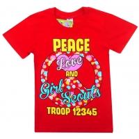 """81202-9 """"Peace"""" Футболка для девочек, 8-12 лет"""