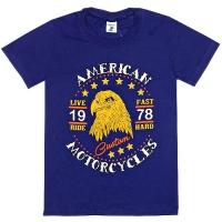 """81201-4 """"Американские Мотоциклы"""" Футболка для мальчиков, 8-12 лет"""