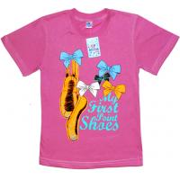 """91302-28 """"Пуанты"""" футболка для девочек, 9-13 лет, ягодный"""