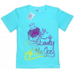 """91302-34 """"Lady"""" футболка для девочек, 9-13 лет, мятный"""