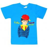 "91301-11 ""Better with Music"" футболка для мальчиков 9-13 лет"