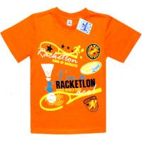 """91301-30 """"Racketlon"""" футболка для мальчиков 9-13 лет, морковный"""