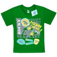 """91301-33 """"Discover"""" футболка для мальчиков 9-13 лет, зеленый"""