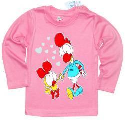 "1412-25 ""Chick"" Кофта на кнопках, интерлок 1-4 года, розовый"