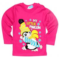 "1412-31 ""Little Pinguin"" Кофта на кнопках, интерлок 1-4 года, малиновый"